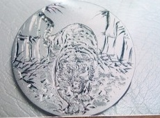 メダルに彫りました